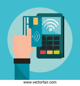 paying with contactless card