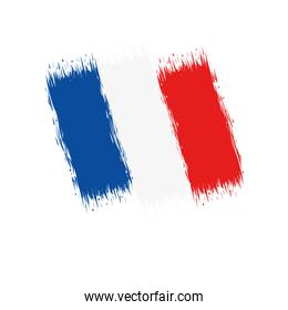 French painted flag