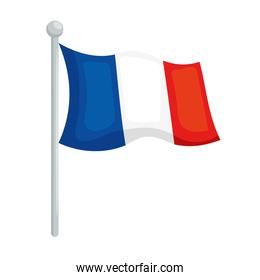Isolated french flag