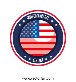 Independence day flag button