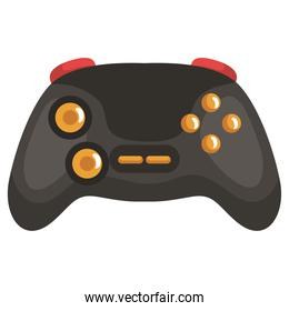 black videogame control with yellow buttons