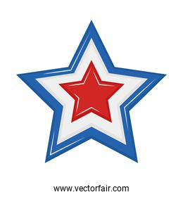 blue and red star