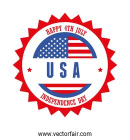 Independence day with seal stamp