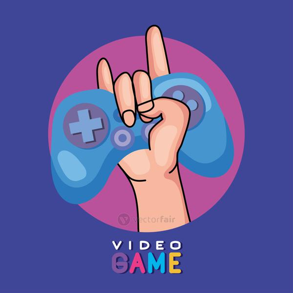 hand holding videogame control