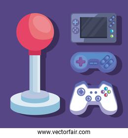 videogame controls icon collection