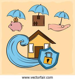 insurance protection icons