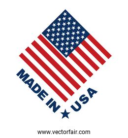 made in usa and flag