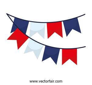 french garlands pair