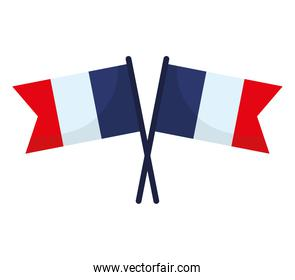 french flags illustration
