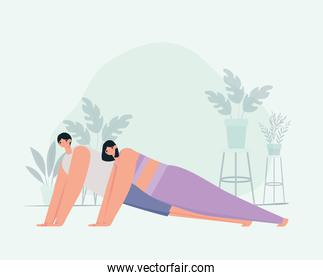 couple practicing exercice