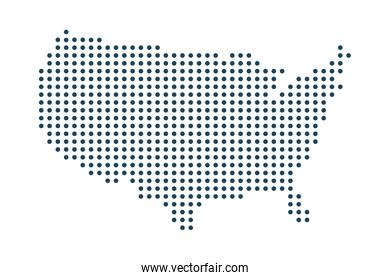 dotted Usa map