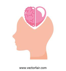 head with heart and brain