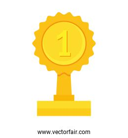number one gold trophy