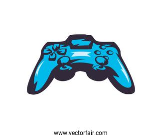 video game control blue