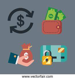 payment and money icons