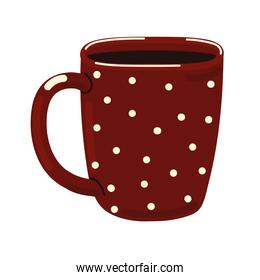 dotted coffee cup