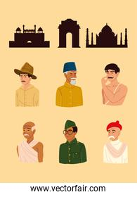 indian people and landmarks
