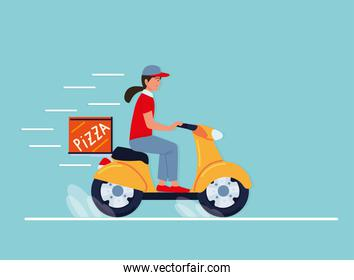 delivery guy on motorcycle