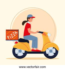 delivery worker on motorcycle