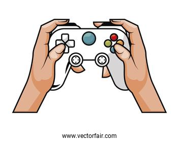 hands using classic control
