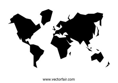 world planet earth silhouette
