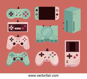 nine video game icons