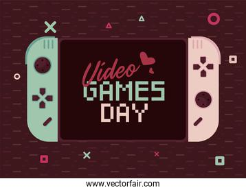 video games day template