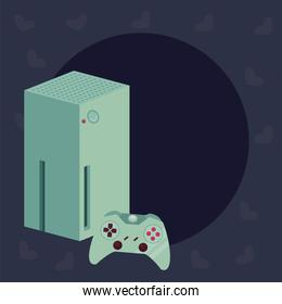green videogame console