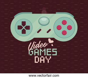 video games day label