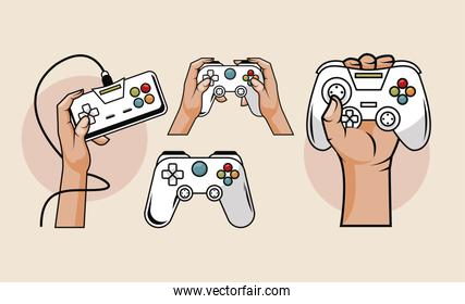 four video game icons