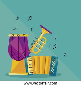 trumpe and instruments