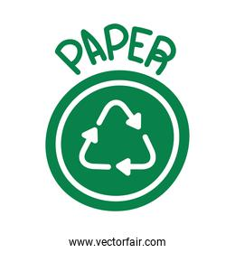 paper recycling symbol