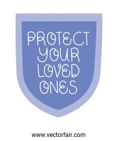 protect loved text
