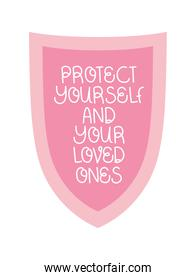 protect yourself text