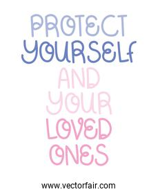 protect loved lettering
