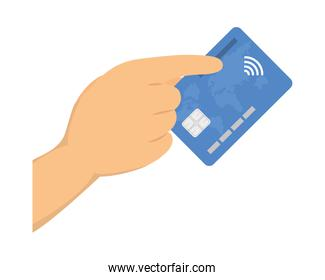 hand and credit card
