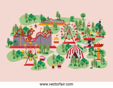 playground with attractions
