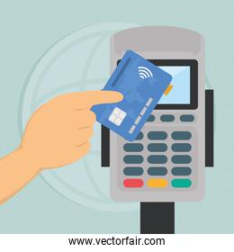 contactless payment illustration