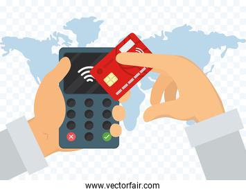 contactless payment device illustration