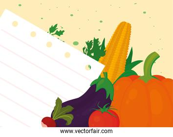 vegetables and recipe