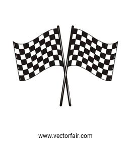 checkered flags in pole