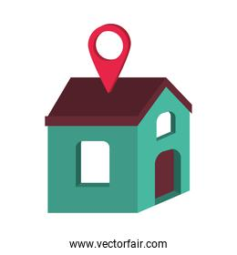 house with location pointer