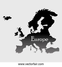 map europe silhouette