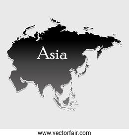 map asia silhouette