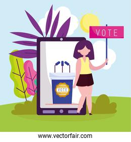 online vote with phone