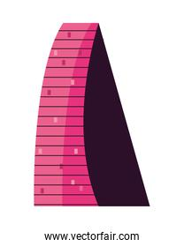 pink and triangle building
