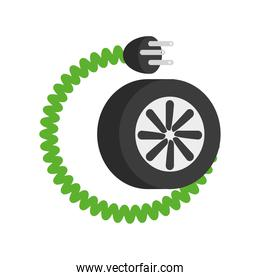electric wheel car and cable