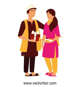 indian man and woman