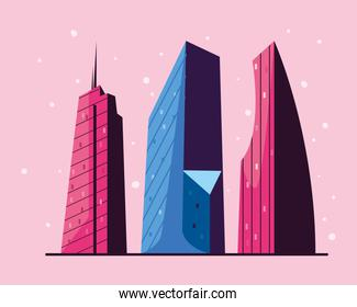 buildings icon group