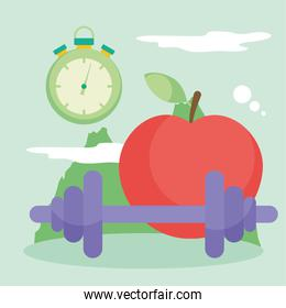 weight apple and chronometer